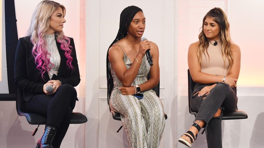 Alexa Bliss, Mo'ne Davis, and Hailie Deegan in conversation at Adweek's Women Trailblazers Summit.