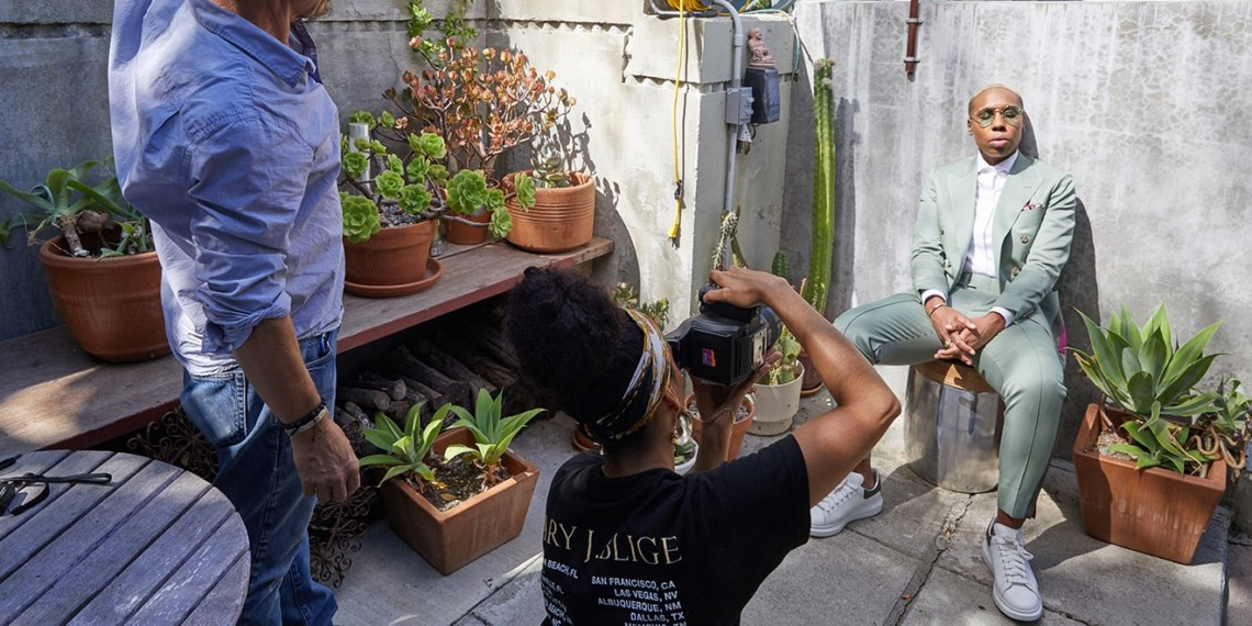 Lelanie Foster photographing Lena Waithe for Adweek's L.A. Brand Stars cover