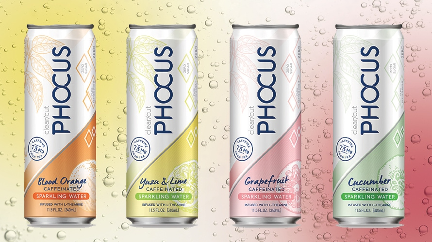Phocus Sparkling Water Is Spiked—With Caffeine – Adweek