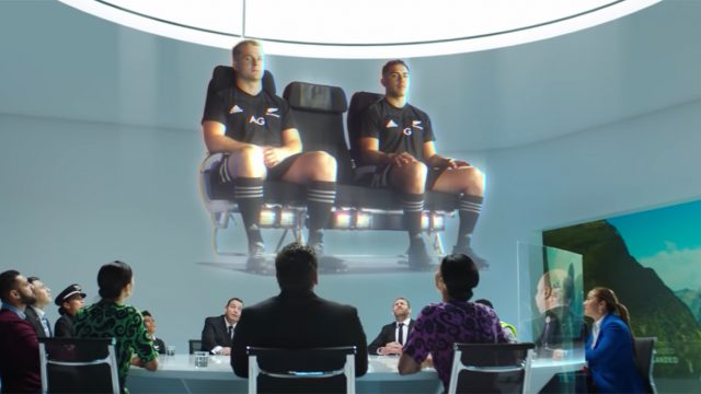 all blacks rugby players in an air new zealand preflight safety video