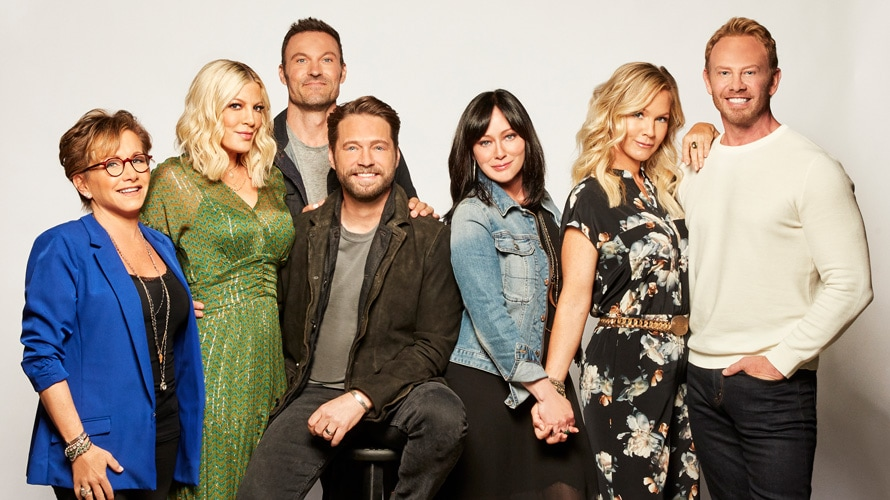 BH90210 original beverly hills 90210 cast jason priestly tori spelling shannen doherty, ian zierling