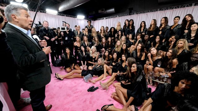 backstage victoria's secret fashion show models ed razek