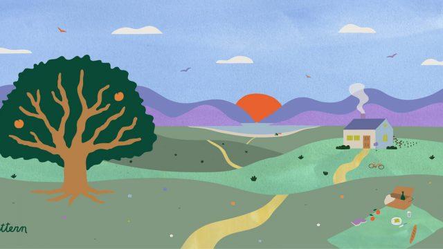 pattern idyllic landscape