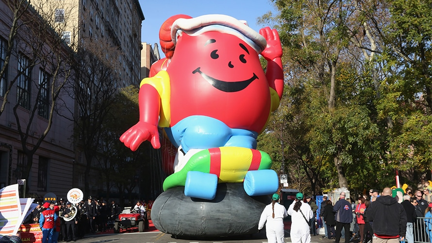 Kool-Aid Man at a parade