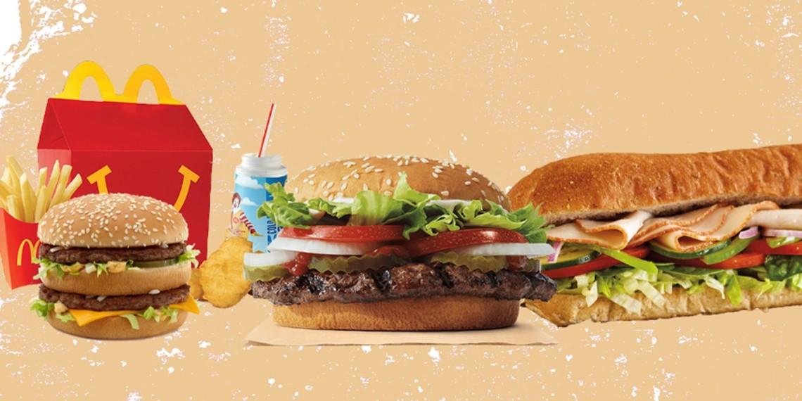 Happy Meal, Big Mac, Whopper, Sub