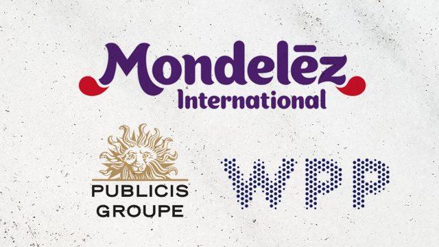 Mondelez, Publicis and WPP logos