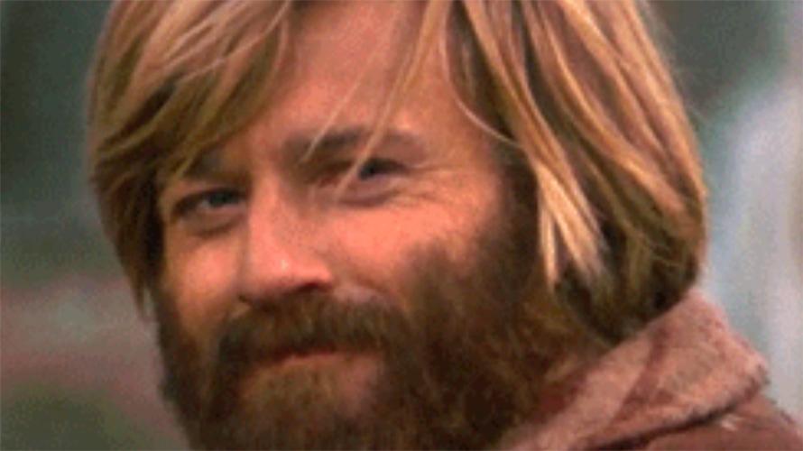 Closeup of Robert Redford.