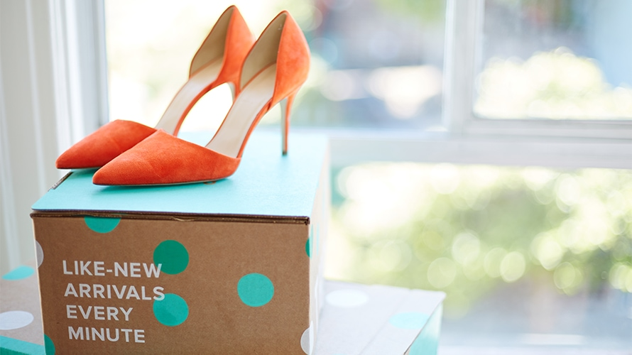 thredup high heel orange shoes stilletos resale market fashion