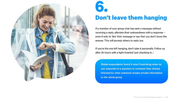 What Should People Do and Not Do When Using Messaging Apps to Communicate?