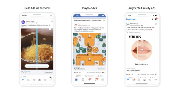 Facebook Details 3 New Interactive Ad Options
