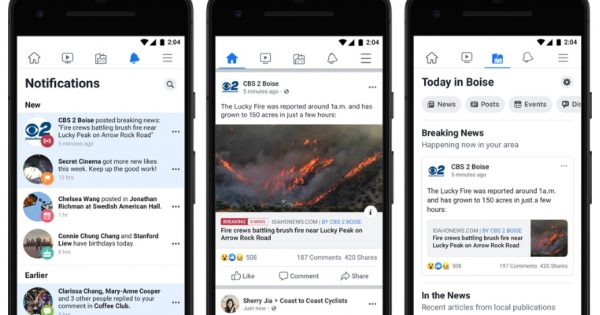 Facebook's Today In Local News Feature Expands to Some 6,000 U.S. Cities