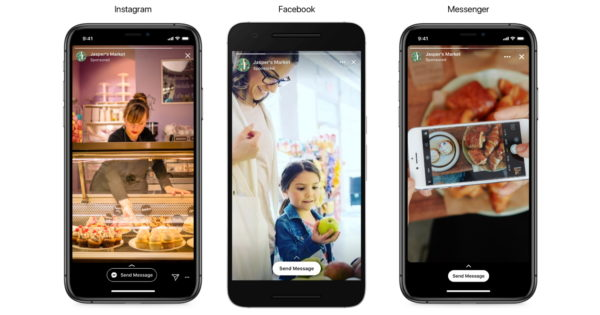 Facebook Rolls Out Stories Ads That Direct People to Messenger Conversations With Brands