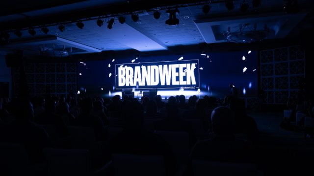 Brandweek logo on stage