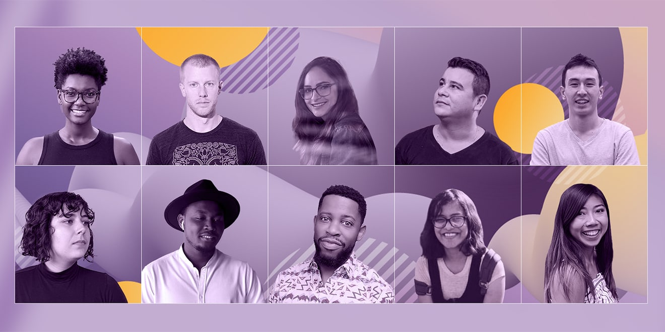 Stacked pictures of Adobe's 2019 UX Designers to Watch