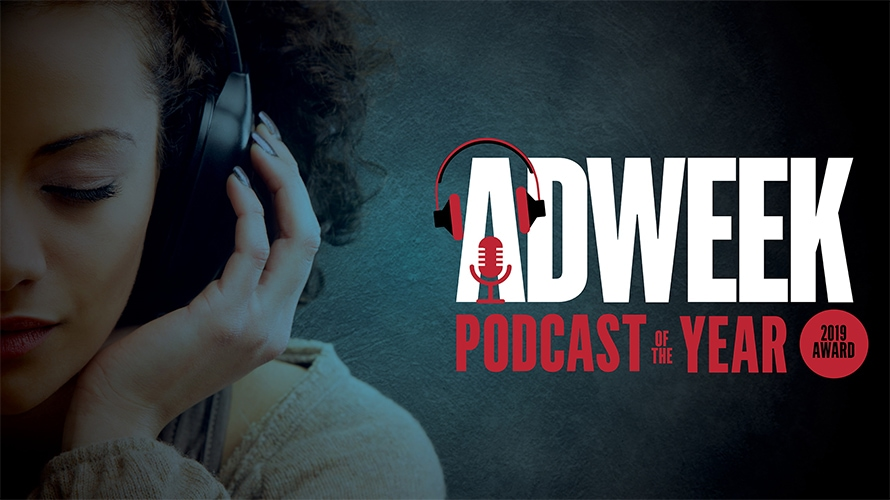 adweek podcast of the year awards graphic