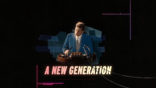 Still image of JFK from Gen Less ad