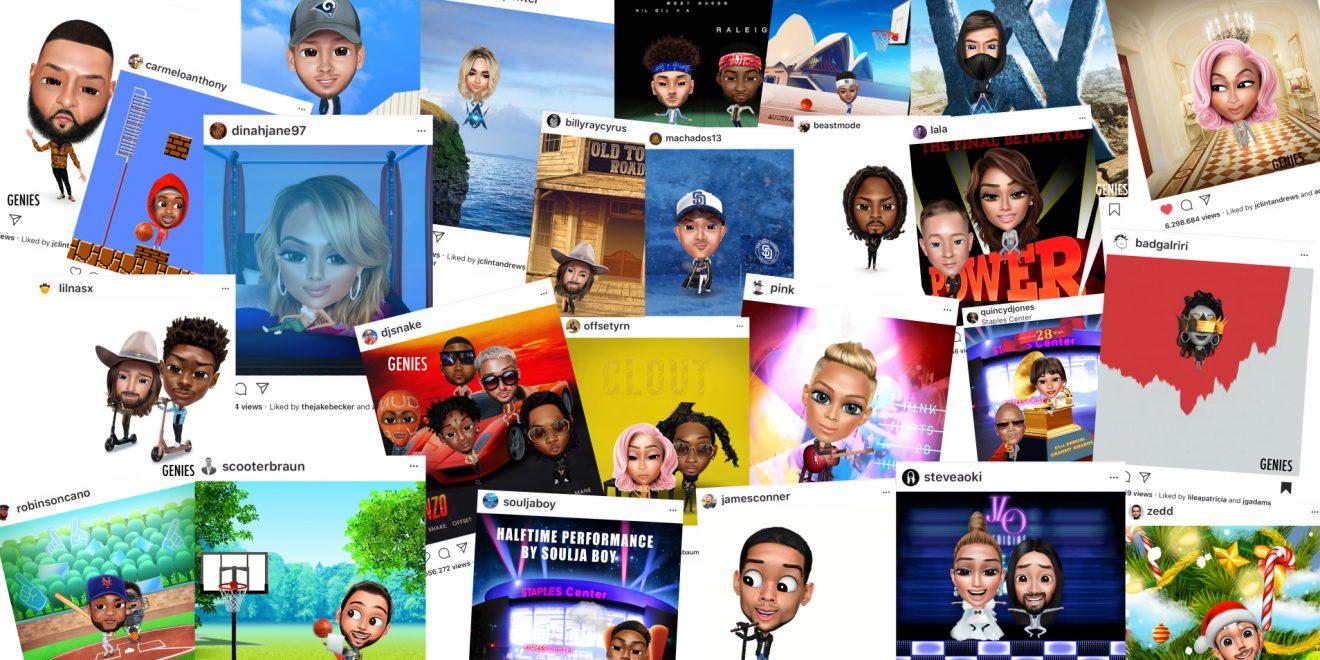 genies bitmoji celebrity instagram avatar agency