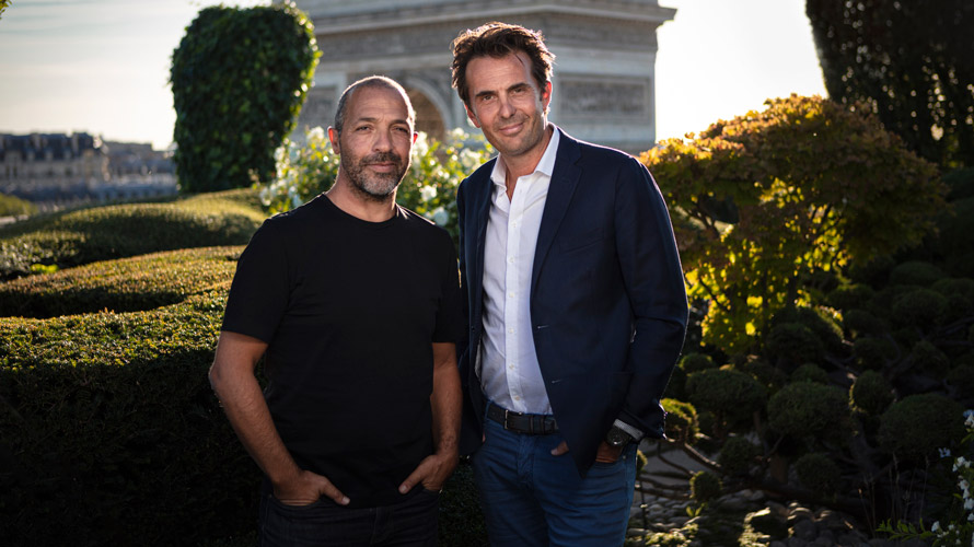 Buzzman founder Georges Mohammed-Chérif (l.) and Havas Group CEO Yannick Bolloré