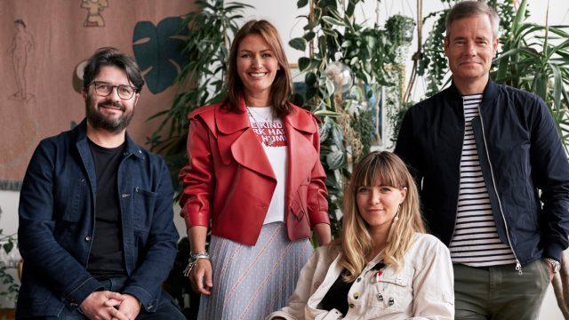 From left: Nicholas Hulley, ecd; Sarah Douglas, CEO; Nadja Lossgott, ecd; and Alex Grieve, CCO of AMV BBDO