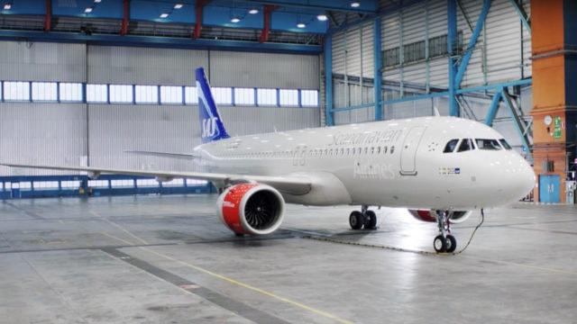 Scandinavian Airlines plane