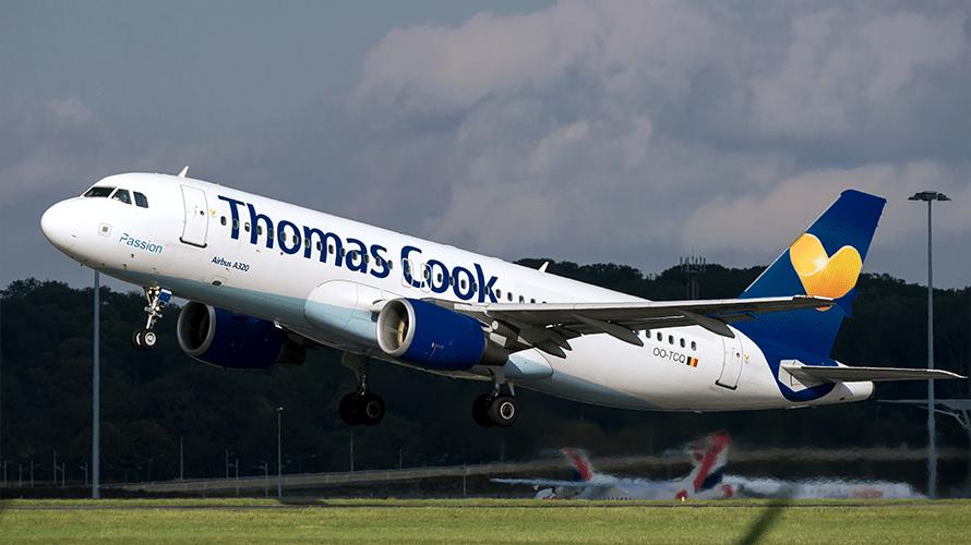 A Thomas Cook airplane