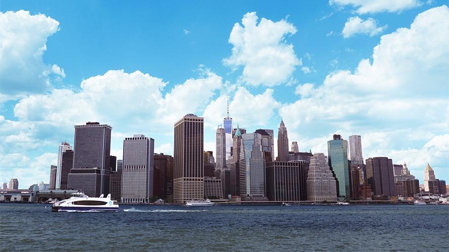 a shot of new york's skyline