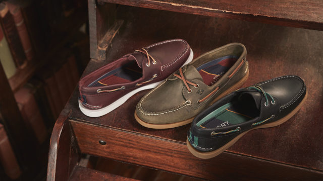 The classic boat shoe didn't leave marks on the deck.