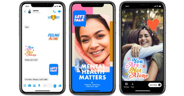 Facebook, Messenger Team Up With World Health Organization for World Mental Health Day