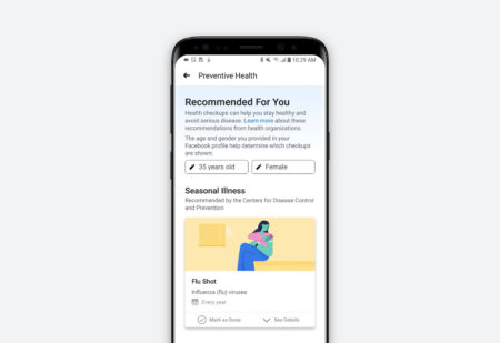 Facebook wants you to check your cholesterol and book a mammogram