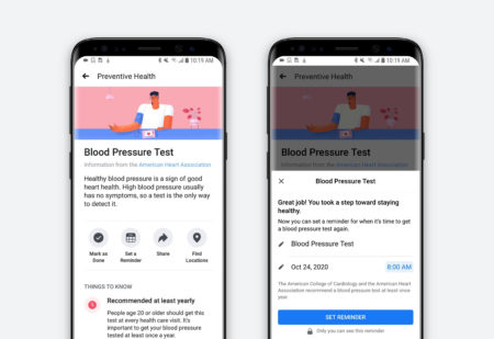 Facebook's new health tool will remind you to get preventive care