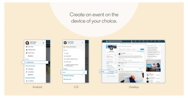 LinkedIn: Here's How to Create an Event