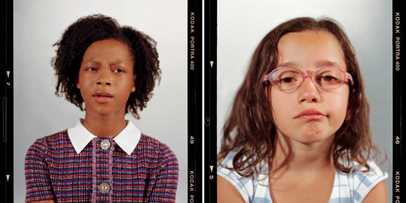 Photos of girls featured in Citi's campaign aligning with International Day of the Girl