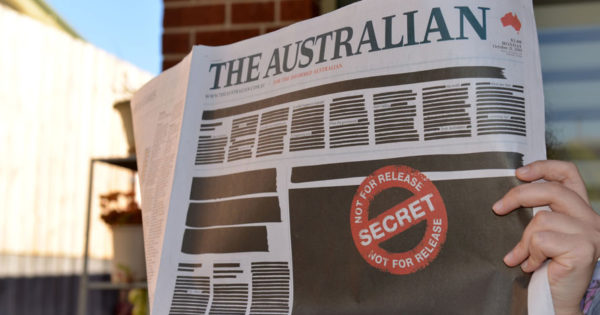 Australian Newspapers Redacted Their Front Pages for Press Freedom