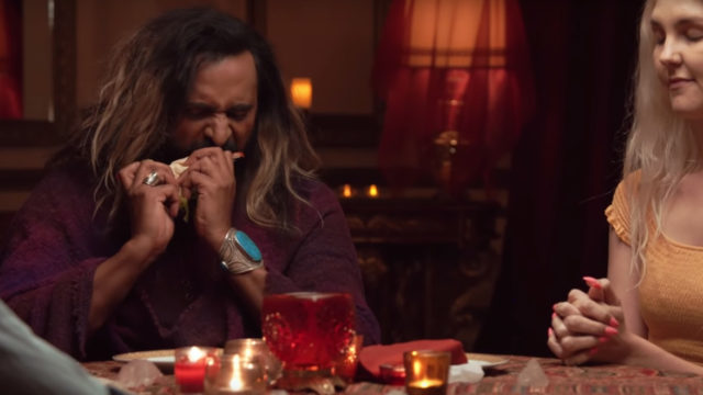 medium riz mizra channels dead people to give them a taste of burger king's new ghost whopper