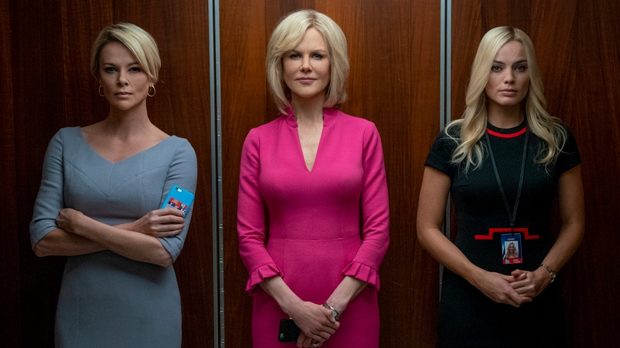 Charlize Theron portrays Megyn Kelly, Nicole Kidman is Gretchen Carlson and Margot Robie plays a composite character named Kayla.