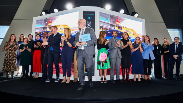 Hearst editors on stage at Hearst Magazines' NewFronts-esque presentation