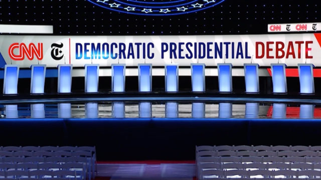 Sign for Democratic presidential debates