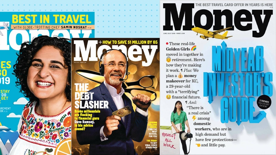 collage of money magazine covers
