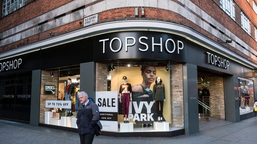 topshop storefront