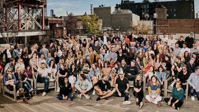 group shot of the entire team at agency Johannes Leonardo
