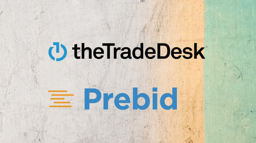 Logos of the trade desk and prebid