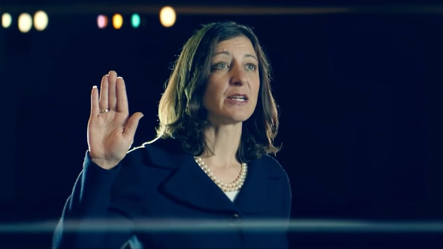 A still from Congresswoman Elaine Luria's ad