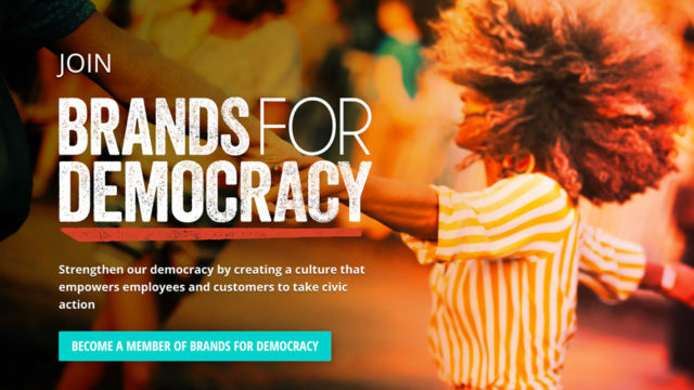 Rock the Vote campaign encouraging brands to vote