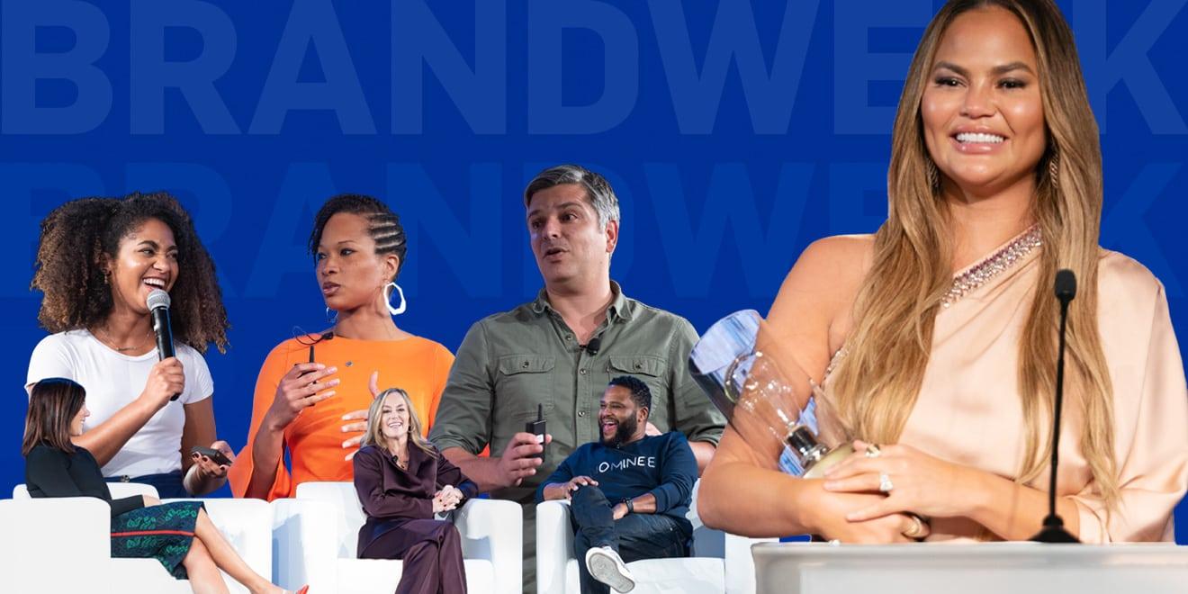 collage of speakers at Brandweek