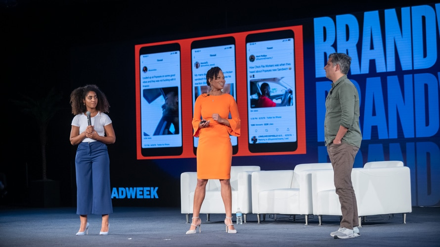 Angela Brown, God-is Rivera, and Fernando Machado at Brandweek 2019