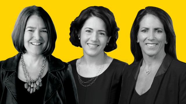 Headshots of Alison Lewis, Silvia Lagnado and Rebecca Messina
