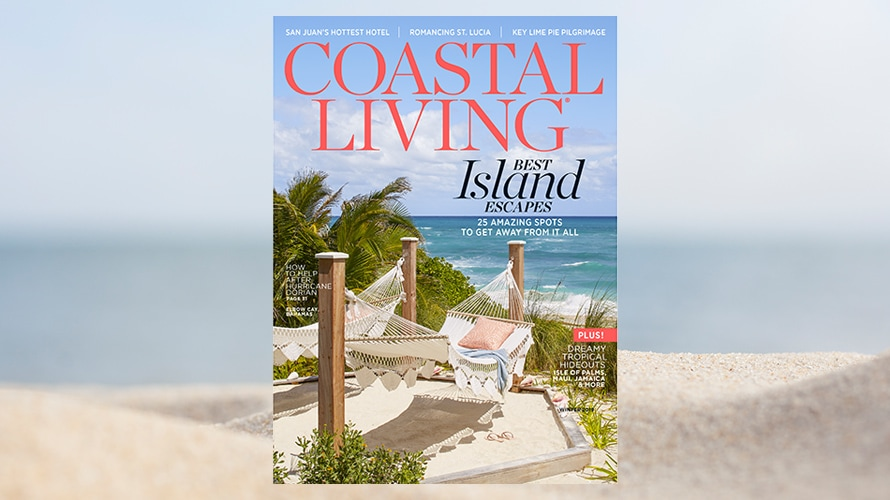 the cover of a coastal living magazine
