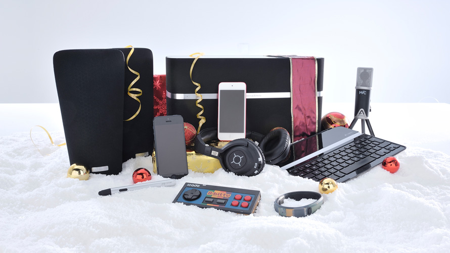 studio shot of different electronic products
