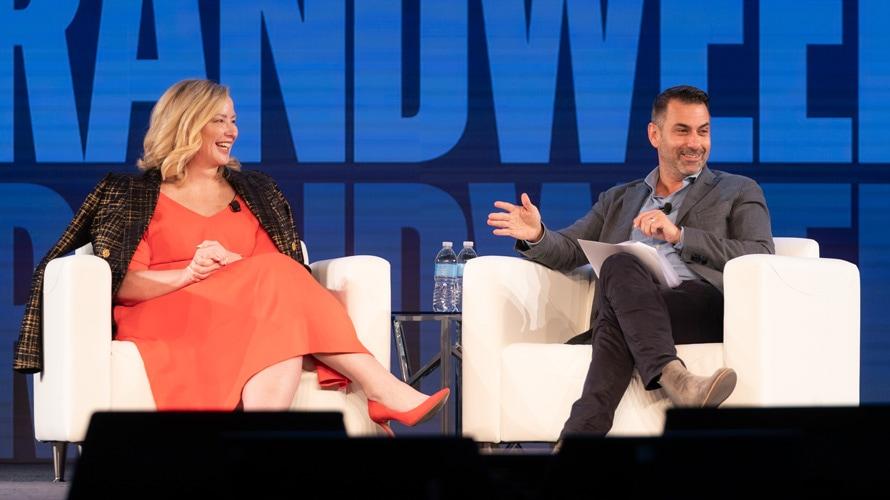 Amy Elkins and Matt Derella at Brandweek
