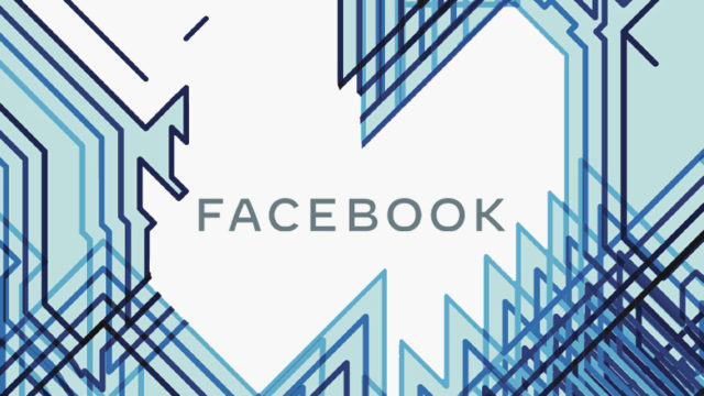 facebook logo surrounded by zig zag lines